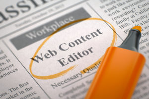 A web content editor is one of the best part time jobs with english skills