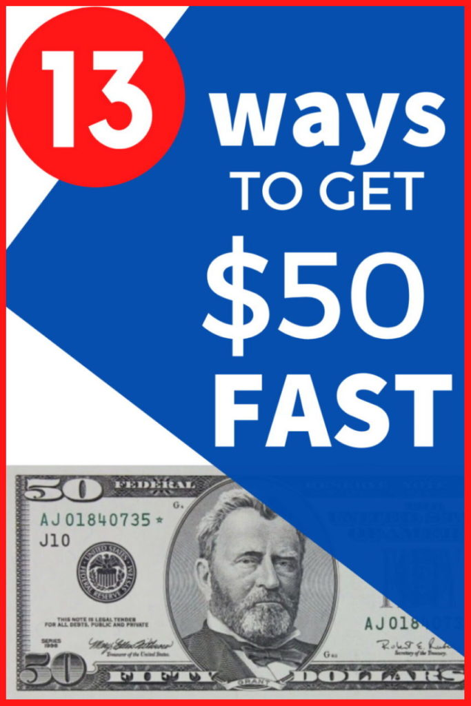How to make 50 dollars fast from home
