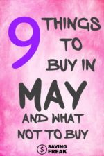 Best Things to Buy in May Sales… and what not to buy