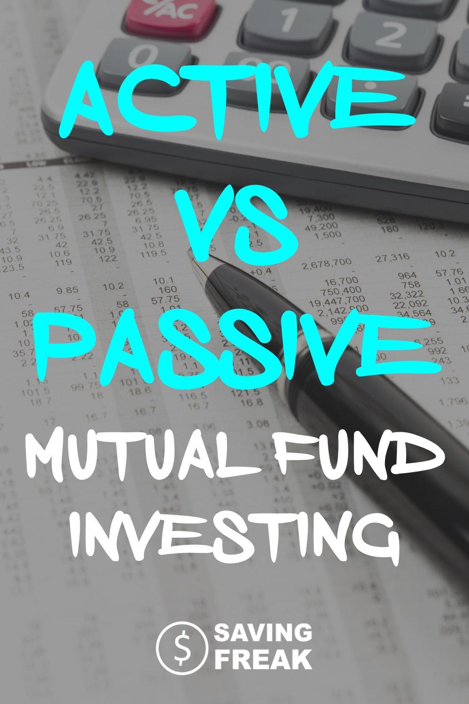 mutual fund active vs passive investing