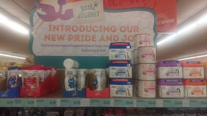 aldi little journey baby food products