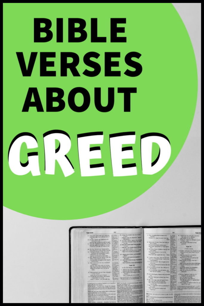 best bible verses about greed in scripture