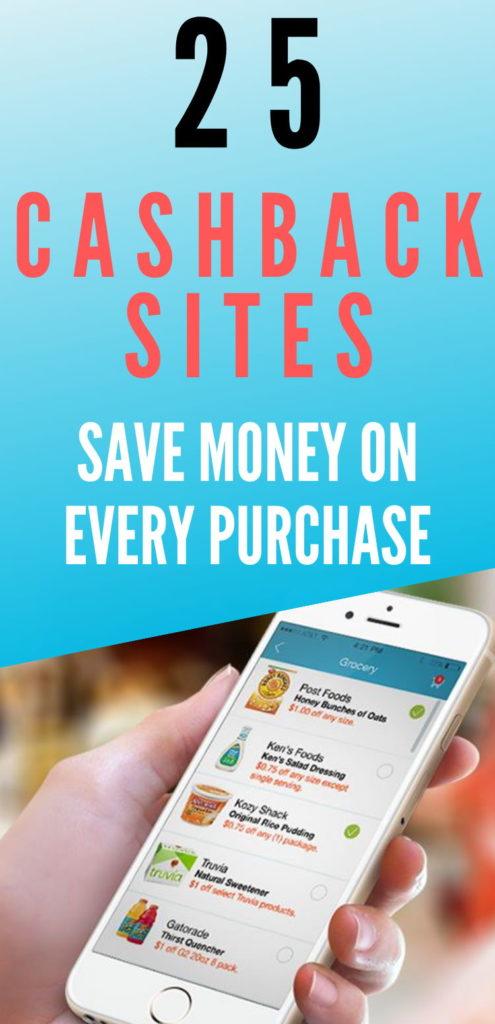 best cashback rebate apps and websites