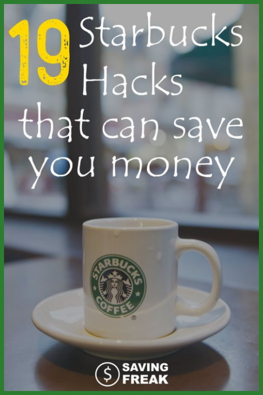 starbucks hacks to save money and time