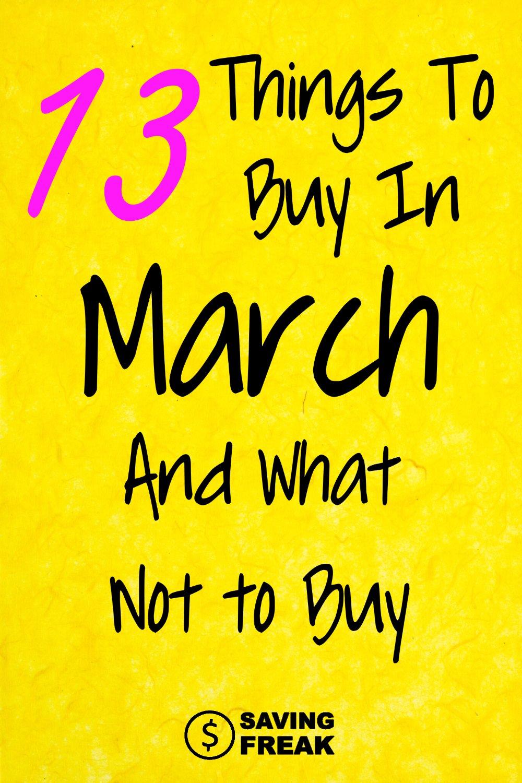 Best Things to Buy in April
