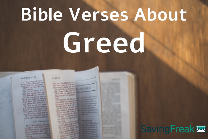 bible verses about greed