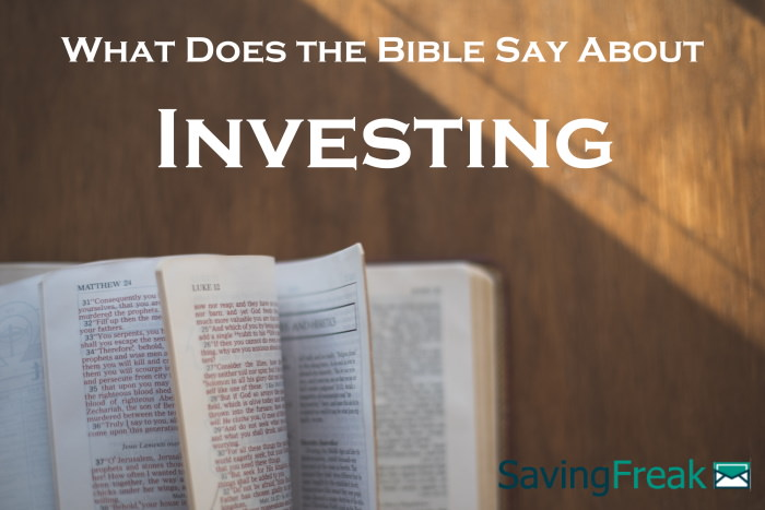bible verses about investing
