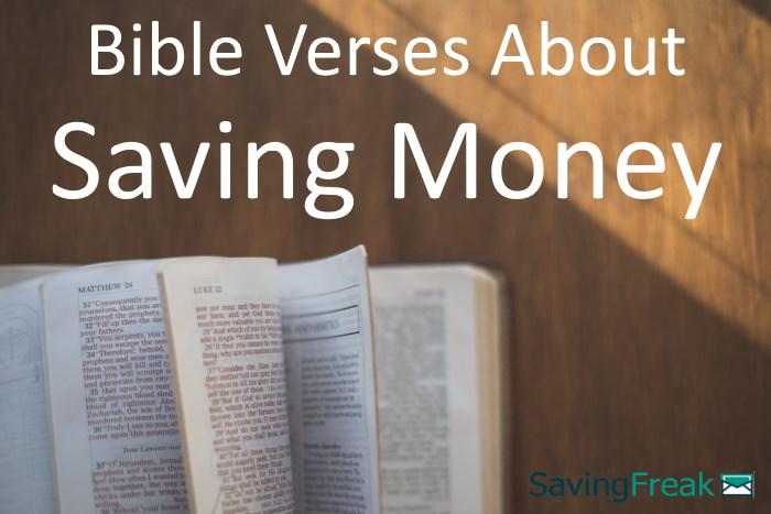 bible verses about saving money