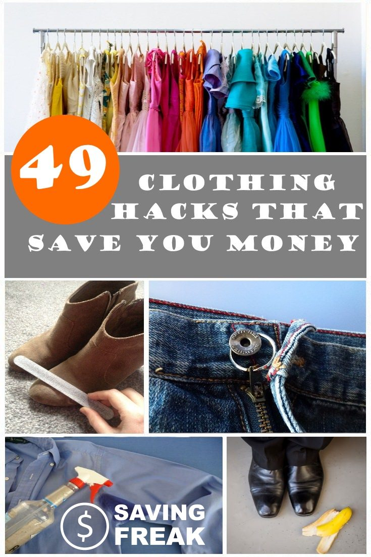 clothing hacks that can save you money
