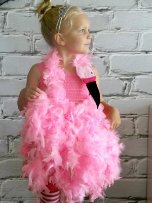 diy pink flamingo costume