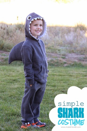 diy shark costume
