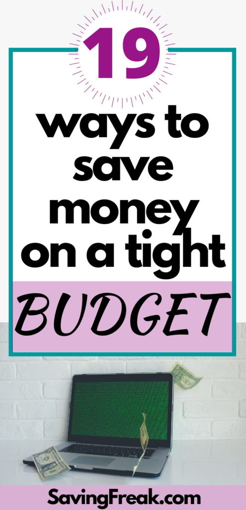 fast ways to save money on a tight budget