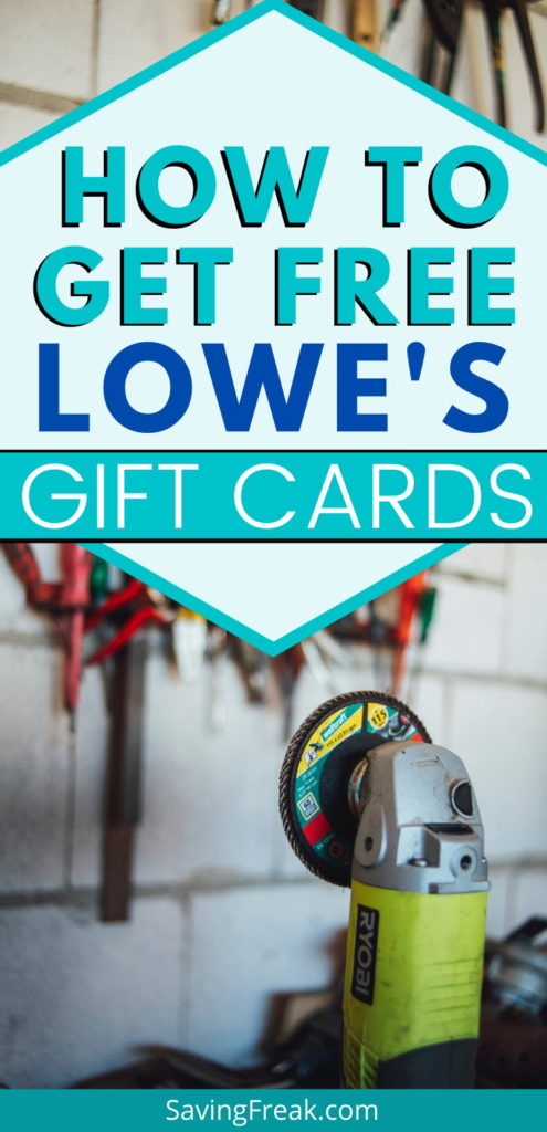 get free lowes gift cards fast