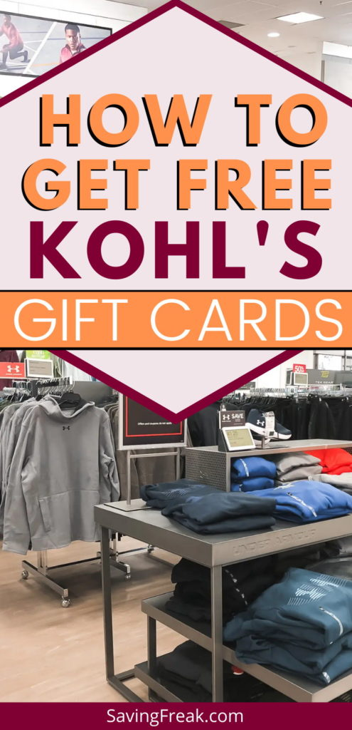 getting kohls gift cards for free
