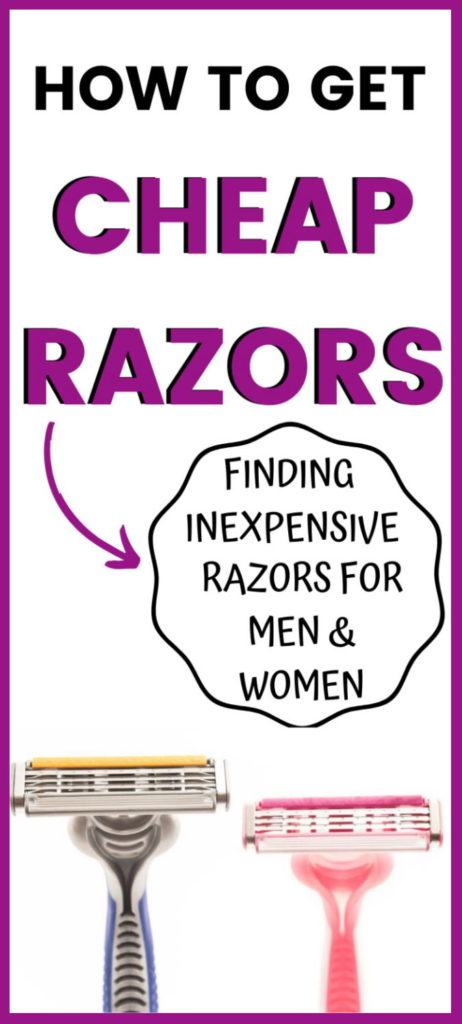 how to get cheap razors for men and women