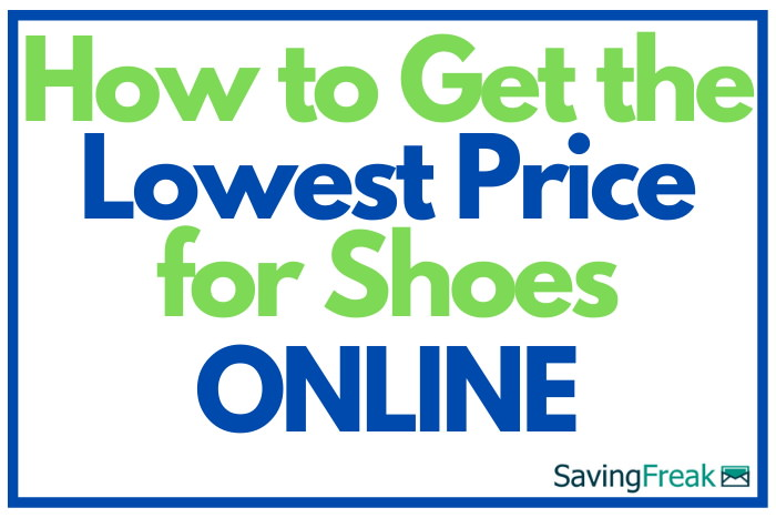 how to get cheap shoes online