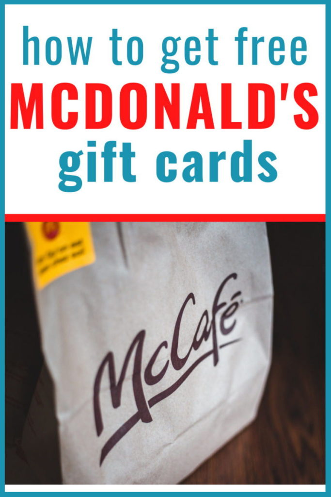 how to get free mcdonalds gift cards online