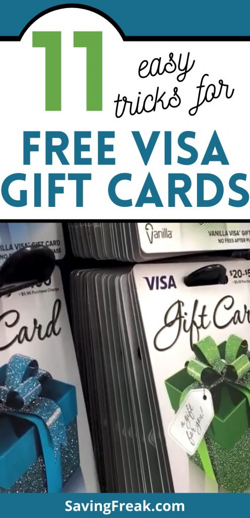 how to get free visa gift cards fast