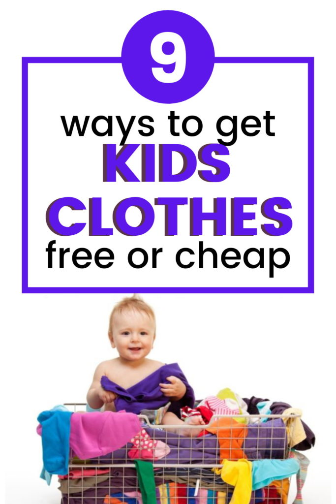 how to get kids clothes for free or cheap