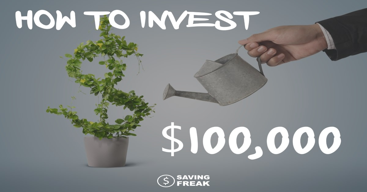 man with watering can showing how to invest 100000 dollars