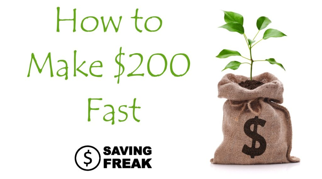 bag of money saying how to make 200 dollars fast