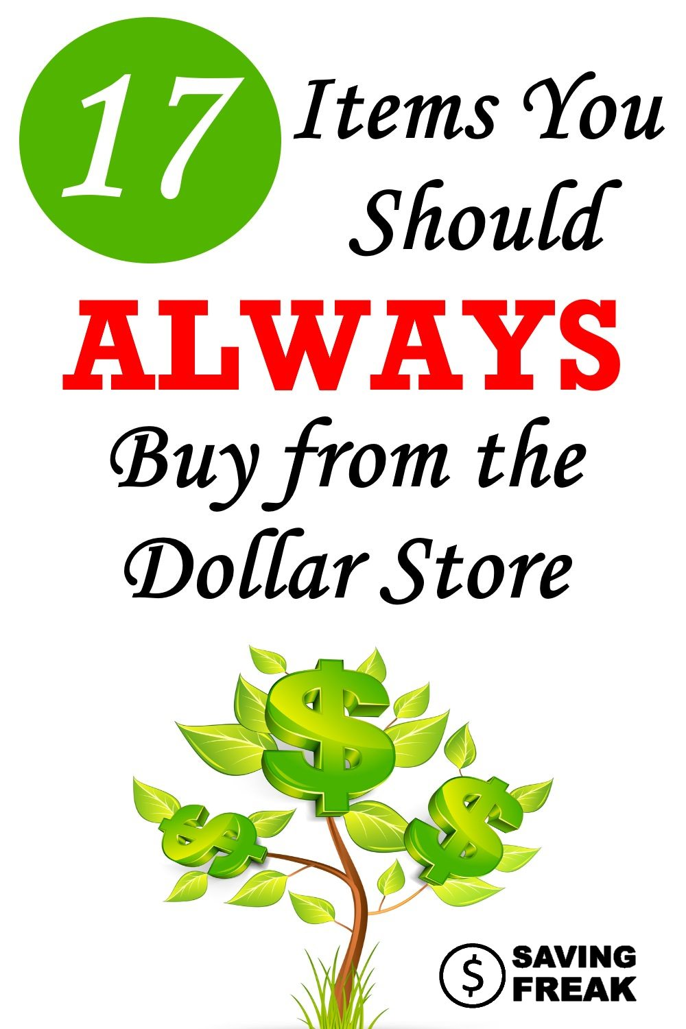 items to purchase from the dollar store
