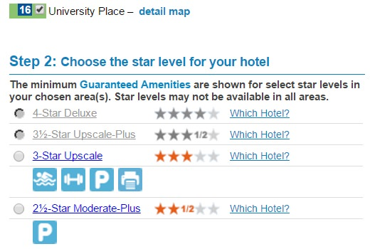 priceline negotiator star ratings