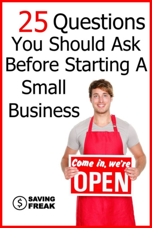 questions to ask before starting a small business