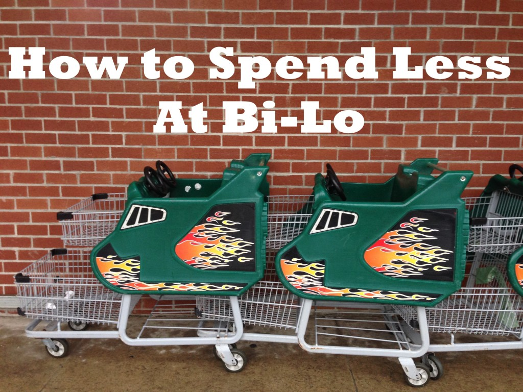shopping with coupons at bilo