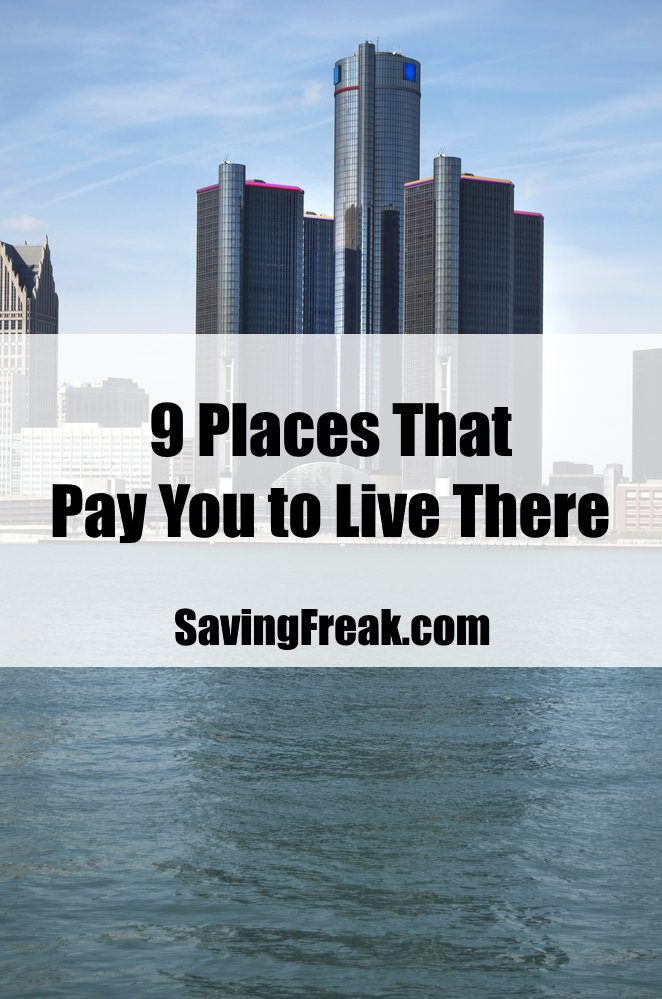 cities states and places that pay you to live there