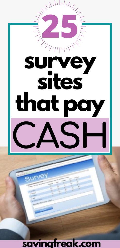 survey sites that pay cash quickly