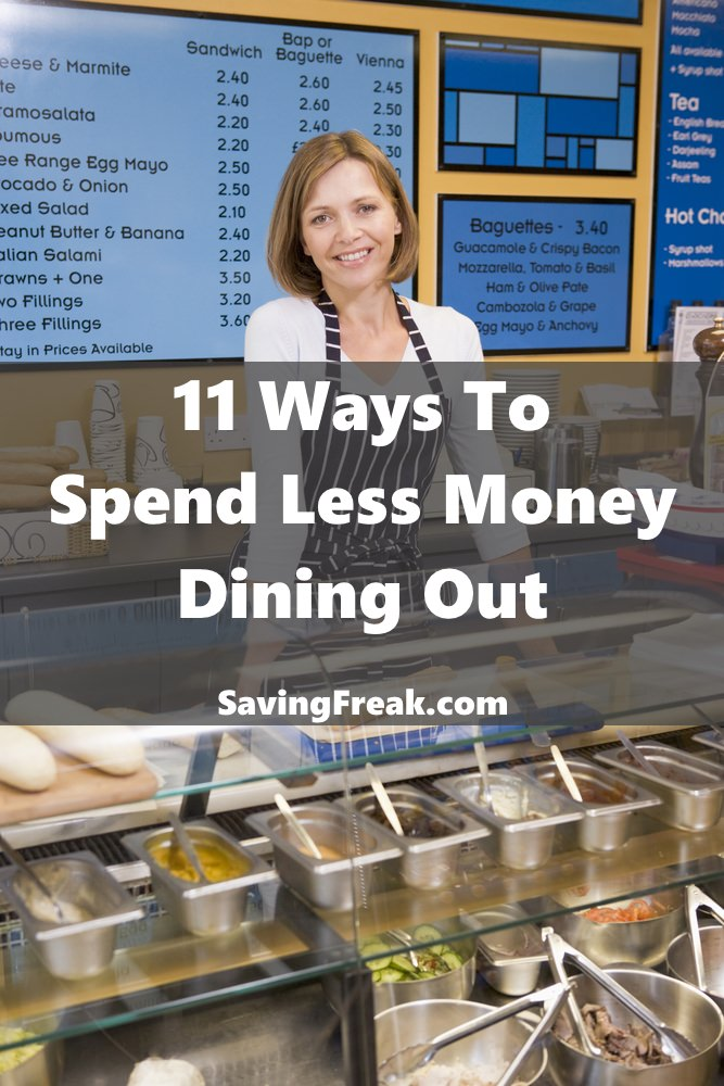 ways to spend less money and find restaurant discounts