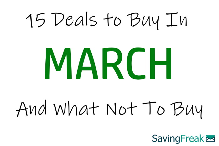 what to buy in march sales
